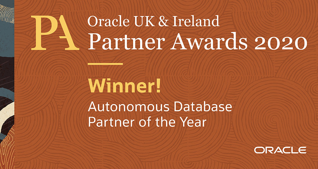Vertice Win Oracle UK & Ireland Autonomous Database Partner of the Year 2020